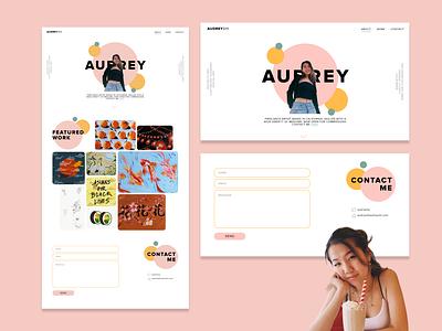 Portfolio Website - Audrey Shi ui design portfolio website portfolio site art website web design portfolio design adobe xd