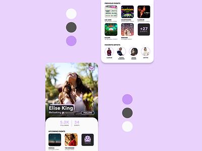 Daily UI 006 - Profile ui design mobile design concert profile page profile dailyui 006 dailyui adobe xd