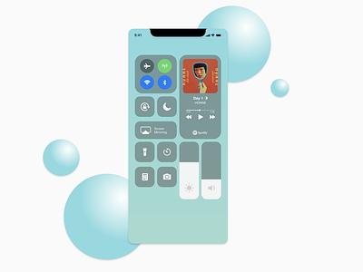 Daily UI 009 - Music Player dailyui spotify mobile design control center ios app design music player ui music player dailyui 009 ui design adobe xd