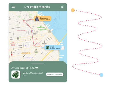 DailyUI 020 - Location Tracker shipping management order tracking delivery location tracker mobile design dailyui ui design adobe xd