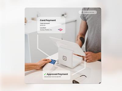 DailyUI 073 VR / AR square money credit card banking payment augmented reality vr dailyui 73 dailyui 073 dailyui adobe xd ui design