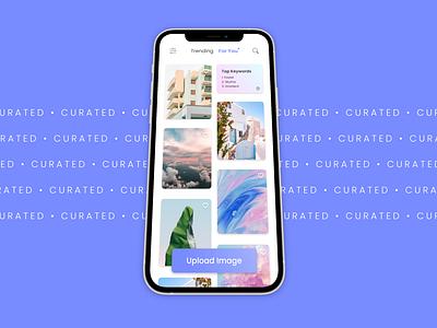 DailyUI 091 - Curated for You mockup unsplash figma images upload feed mobile design web design recommended for you curated dailyui 091 dailyui adobe xd ui design