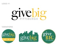 Give Big Pittsburgh Logo Designs by GiveGab on Dribbble