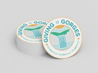 Giving Is Gorges Sticker