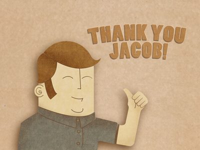 Thank you Jacob! illustration jacob andersson first debut cardboard jacob andersson