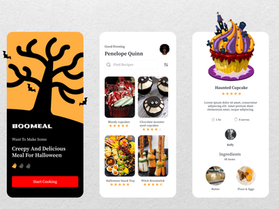 Recipe    Daily UI 40 food recipe recipe mobile app food app spooky ios branding vector illustration design interface uiuxdesign uidesign ui figma dailyui