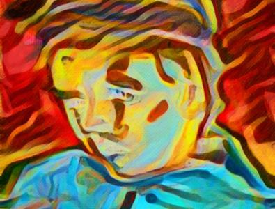 The Schoolboy Modern Cover vincent van gogh artist famous trippy colorful illustration color palette artwork modern vintage abstract van gogh