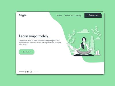 Yoga landing page web designer webdesign web uxdesign ux uiuxdesigner uiux uidesign ui design landing page design landingpage