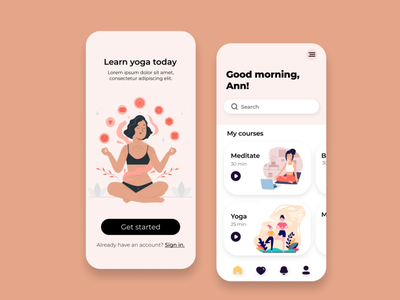 Yoga app prototype mobile application mobile app design mobile ui mobile app designer app design app design uxdesign ux uiuxdesigner uiux uidesign ui