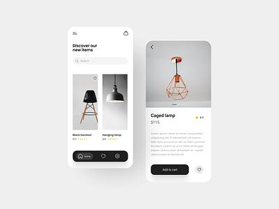 Minimal furniture app app designer app design uxdesign ux uiuxdesigner uiux uidesign ui