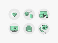 A new set of icons for Isoverse Landing Page