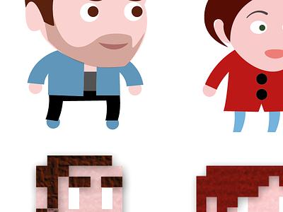 Pixel to Vectors pixel vector