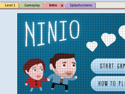 Splash Screen construct2 scirra game html5 heart wedding