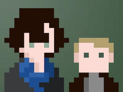 Sherlock pixel pixel-art sherlock cumberbatch