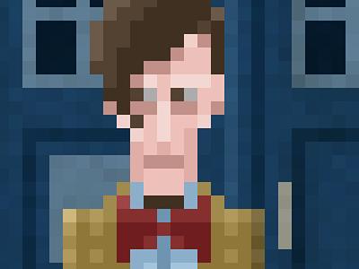 Doctor Who Fan-Art pixel pixel-art digital doctor who who illustration dalek cyberman silence fan-art