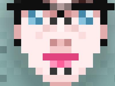 Pixel Portrait  pixel portrait photoshop illustration retro