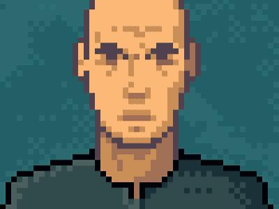 Pixel Portrait Sketch pixel pixel-art sketch photoshop