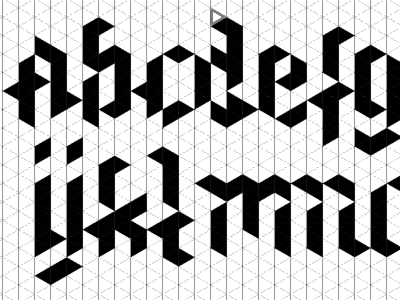 Trixel-Font typography font fonts hexels trixels