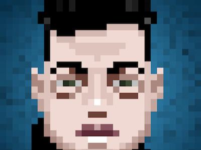 Elliot Alderson Pixel Portrait