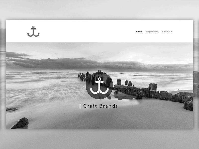 Portfolio Redesign website anchor jj black and white