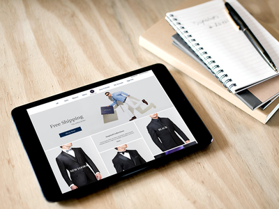 Website for Custom Tailored Suits custom tailored suits men fashion website ui shop ecommerce ux grid