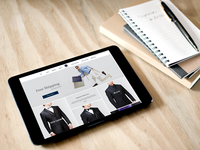 Website for Custom Tailored Suits