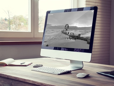 New Portfolio Site portfolio website design brand ui mac photo lake self mockup