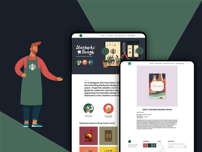 Starbucks Design Gallery ui art hobby minimal clean website collection gift cards coffee starbucks