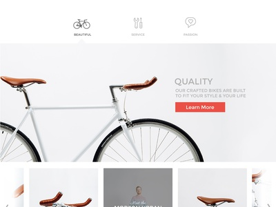 Passion Bicycle bicycle website ui clean minimalist bike san francisco shop ecommerce product