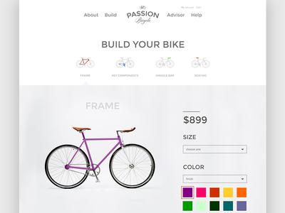 Passion Bicycle bicycle website ui clean bike san francisco ecommerce shop custom minimal simple