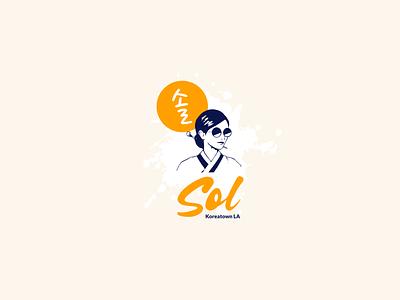 Sol Korean Restaurant Logo hip female girl sol design brand identity hanbok california logo restaurant korea socal