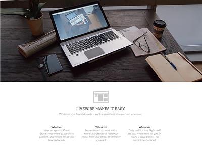 Livewire Financial Website tax finance website ui clean minimal ux