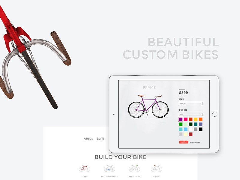 Passion Bicycle Project ui custom bicycle clean branding design website