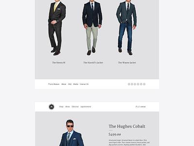 Monarc Menswear website design branding clean fashion menswear ui ux