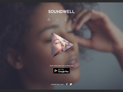 Music App Download Landing Page website clean ui ux landing page google play download music