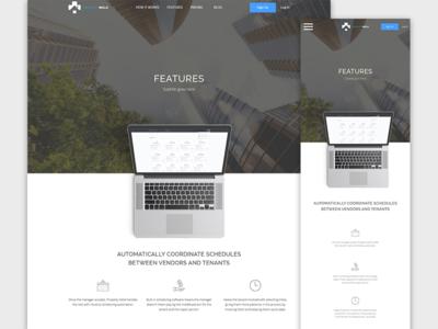 Property Management App Marketing Landing Page