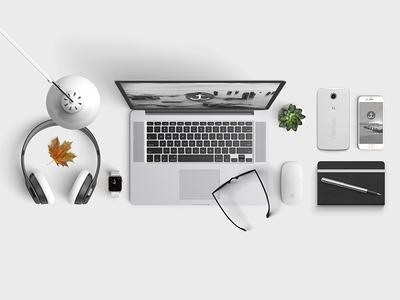 Portfolio-Desk logo ux ui minimal clean website branding macbook grid knolling desk portfolio
