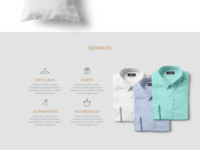 US Cleaners minimalist clean clothes ux ui cleaners website