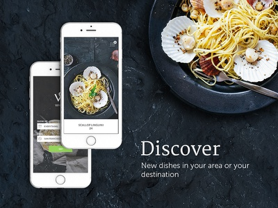 Food Discovery app dark ui discover ux ui iphone ios app food