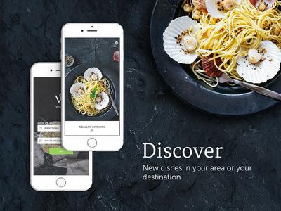 Food Discovery app dark ui discover ux ui iphone ios app food