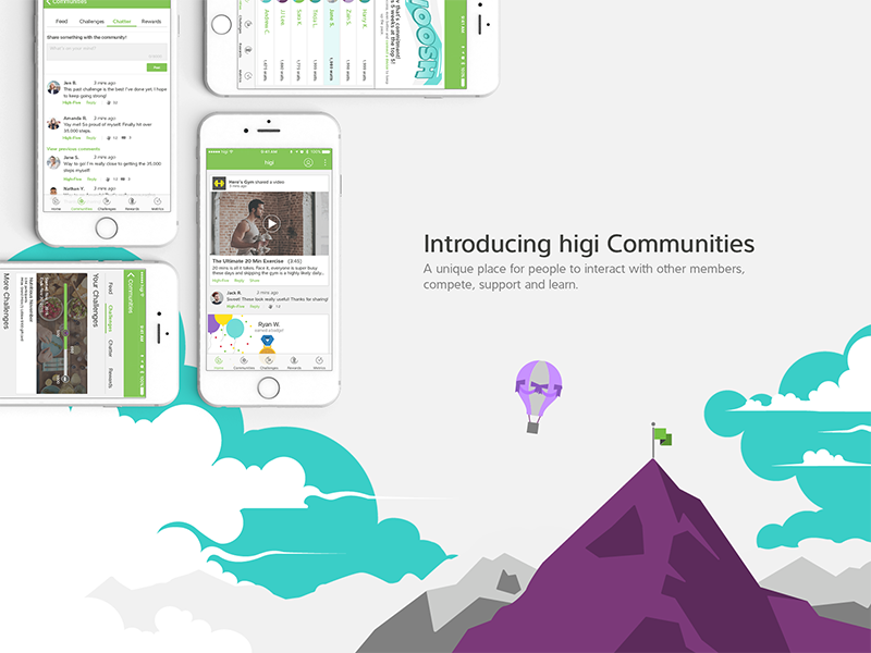 Healthcare Community leaderboard chat feed fitness ios mobile ux ui community healthcare
