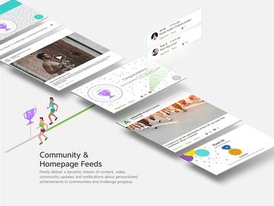 Feed Card UI community fitness ux ui card feed