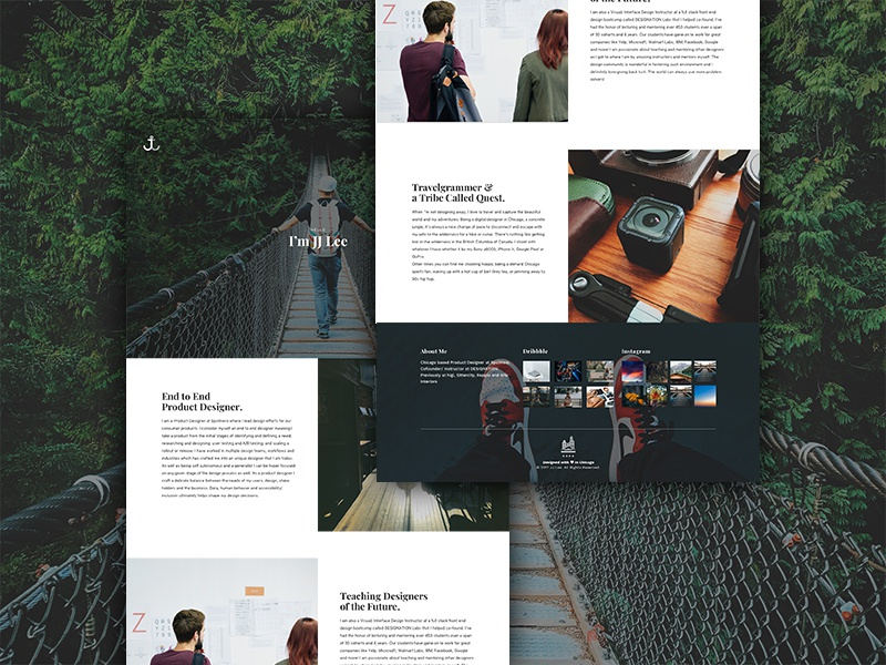 Portfolio- About Me Page minimal clean photography travel ui ux design website about me portfolio