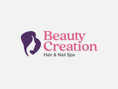 Beauty Salon Logo brand identity branding logo design logo b woman salon hair nail beauty