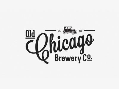 Old Chicago Brewery Co. Logo logo chicago brewery vintage beer