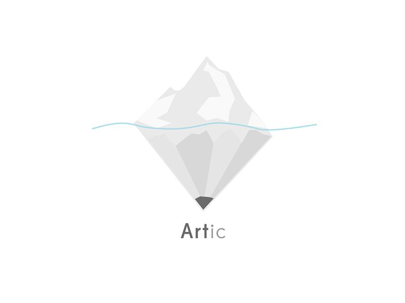 Artic Logo B&W arctic artic logo art pencil iceberg