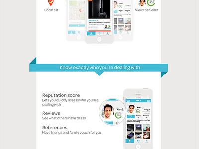 Mobile App marketplace reppio app ios ui flat ui minimal iphone