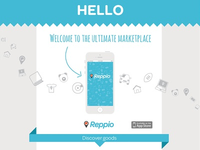 Mobile App marketplace reppio app ios ui flat ui minimal iphone