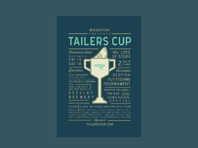 Tailers Cup Fly Fishing Tournament Poster charleston fly fishing redfish