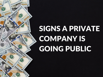 Signs a Private Company is Going Public Post | Bank Newsletter template money banking bank featured image newsletter financial ipo canva template design